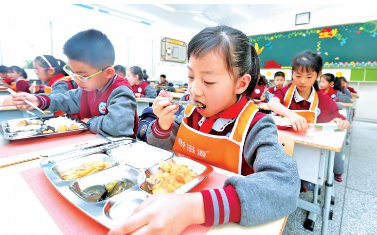 妈妈再也不用担心我的午餐了,郑东新区公办中小学正式供应午餐